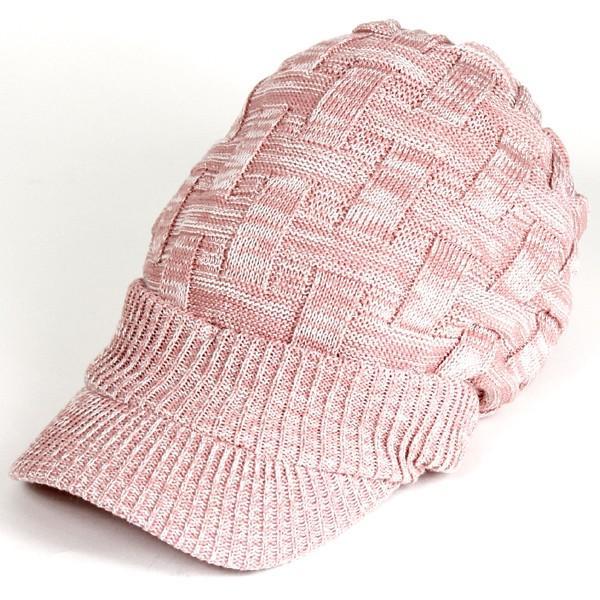 キャスケット 夏 メンズ 帽子 レディース ニット帽 つば付きニット帽 コットン クロス編み 送料無料|protocol|27