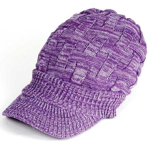 キャスケット 夏 メンズ 帽子 レディース ニット帽 つば付きニット帽 コットン クロス編み 送料無料|protocol|28