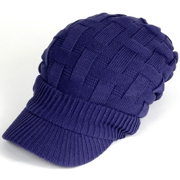 キャスケット 夏 メンズ 帽子 レディース ニット帽 つば付きニット帽 コットン クロス編み 送料無料|protocol|30