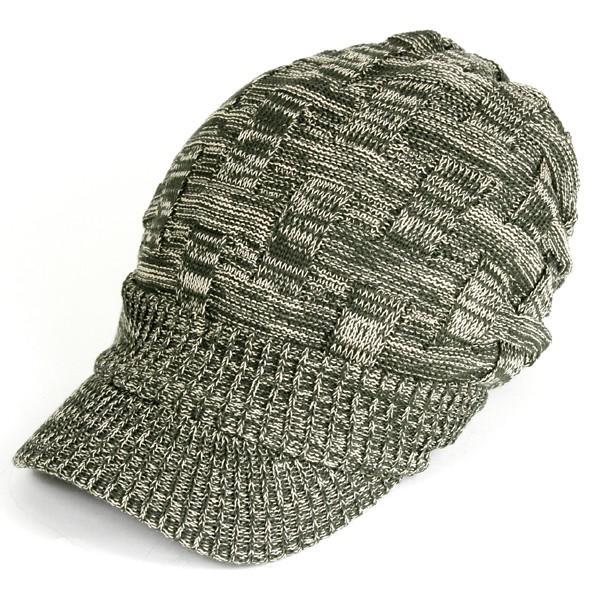 キャスケット 夏 メンズ 帽子 レディース ニット帽 つば付きニット帽 コットン クロス編み 送料無料|protocol|31