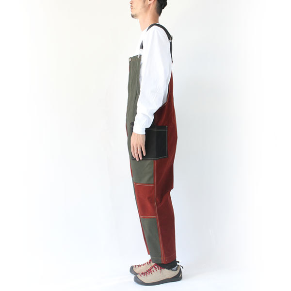 ジムマスター gym master ガーメントウォッシュ オーバーオール G757605 メンズ キャンプ アウトドア ファッション