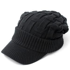 ニット帽 メンズ つば付き 大きい キャスケット レディース 帽子 アクリル クロス編み 送料無料 protocol 09