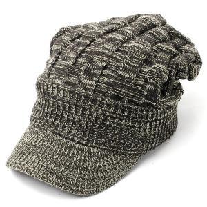 ニット帽 メンズ つば付き 大きい キャスケット レディース 帽子 アクリル クロス編み 送料無料 protocol 20