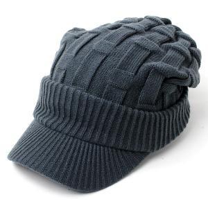 ニット帽 メンズ つば付き 大きい キャスケット レディース 帽子 アクリル クロス編み 送料無料 protocol 14