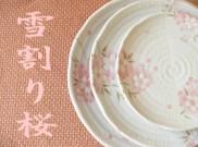 桜柄の和食器 雪割り桜 カフェ食器 美濃焼 激安業務用食器