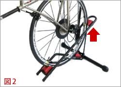 DS-800AKI 自転車縦置き 後輪をセット