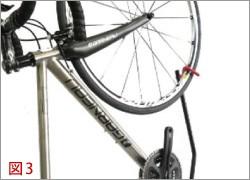 DS-800AKI 自転車縦置き 前輪固定