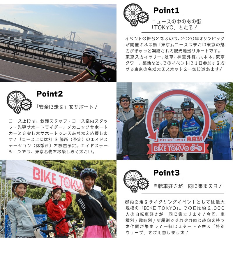 ポイント,バイク東京2019,BIKE TOKYO 2019,ツールドニッポン,イベント,東京都内を周遊するコース,ご招待キャンペー