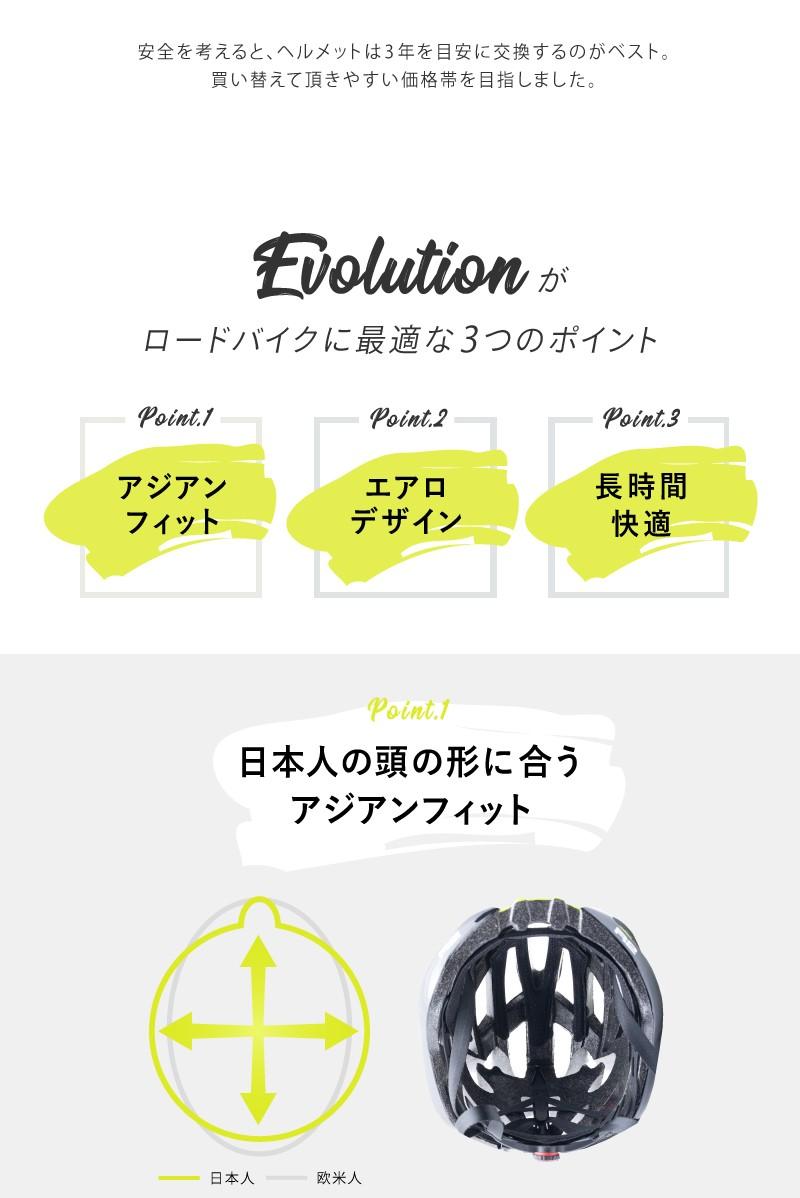 エアロデザイン、ヘルメット、ロードバイク用、アジアンフィット、自転車用、R2 EVOLUTION(エボリューション)