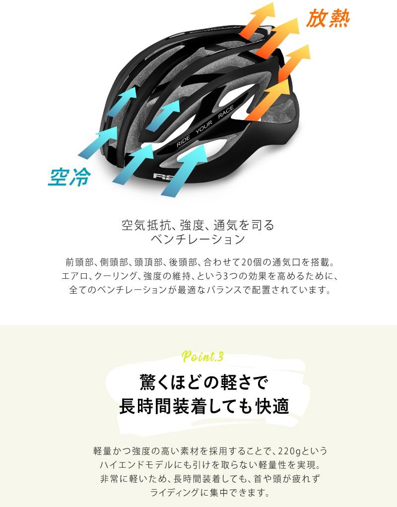 ベンチレーション、ヘルメット、ロードバイク用、アジアンフィット、自転車用、R2 EVOLUTION(エボリューション)