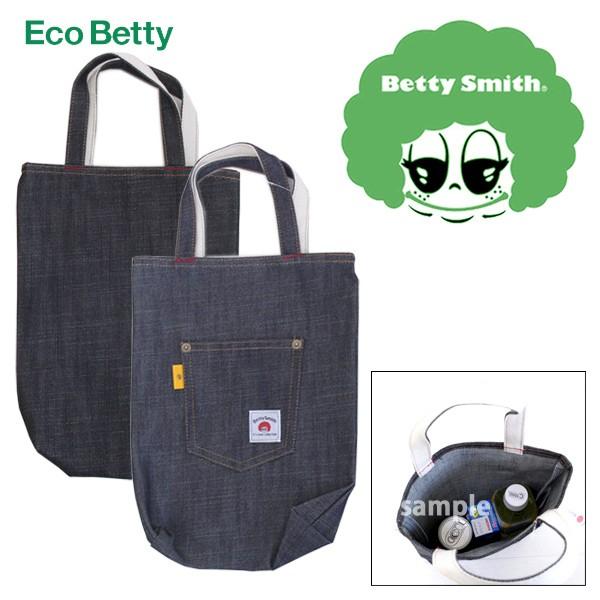 ecobetty 長方形 デニム トートバッグ