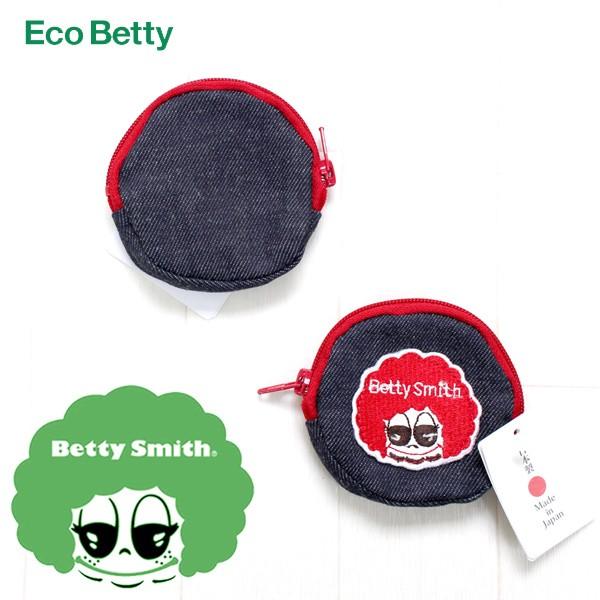 ecobetty 丸型 デニムミニポーチ