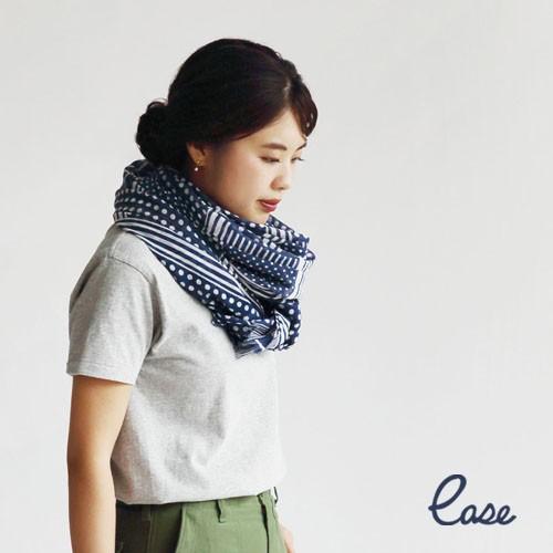 ease ドット&ストライプスカーフ