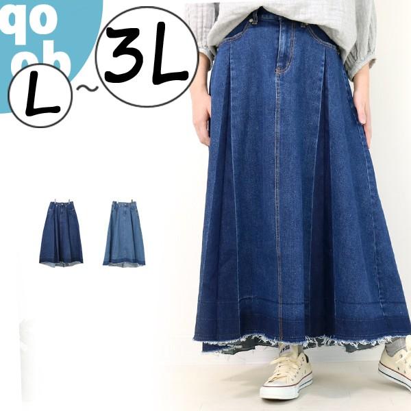 qoob パネルプリーツスカート