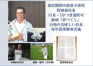 【送料無料】藤木ファームお米 夢つくし10キロ