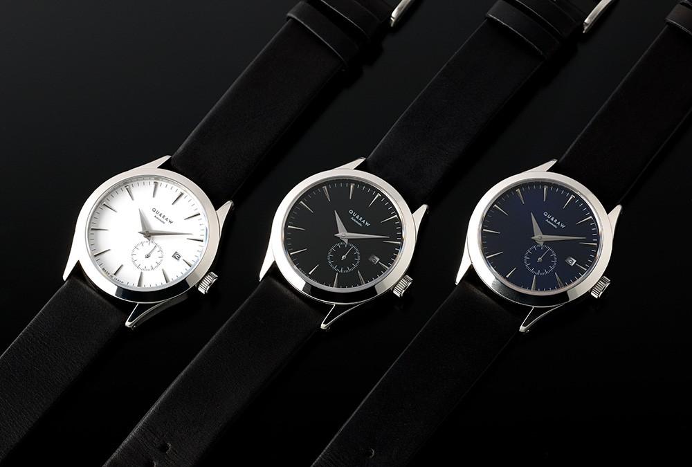 QU&RAW クアンドロー こだわりの日本製機械式腕時計、グィディ社製の高級レザーを用いたベルト仕様。