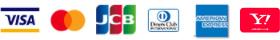 取扱カード VISA、MASTERCARD、JCB、アメリカンエクスプレス、ダイナース、Yahoo! JAPANカード
