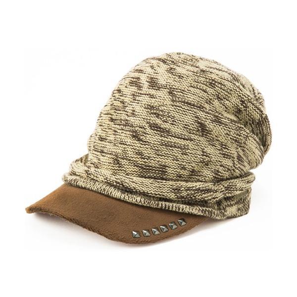 セール 1000円 ニット帽 小顔効果や防寒対策に 帽子 レディース 大きいサイズ ニット帽 商品名 アクセントニットキャスケット|queenhead|21