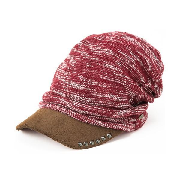 セール 1000円 ニット帽 小顔効果や防寒対策に 帽子 レディース 大きいサイズ ニット帽 商品名 アクセントニットキャスケット|queenhead|23