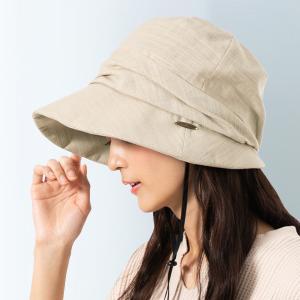 帽子 レディース UV 紫外線 大きいサイズ キャスケット キャスダウンハット 折りたたみ つば広 日よけ 折りたたみ 自転車 飛ばない 春 夏 QUEENHEADヤフー店