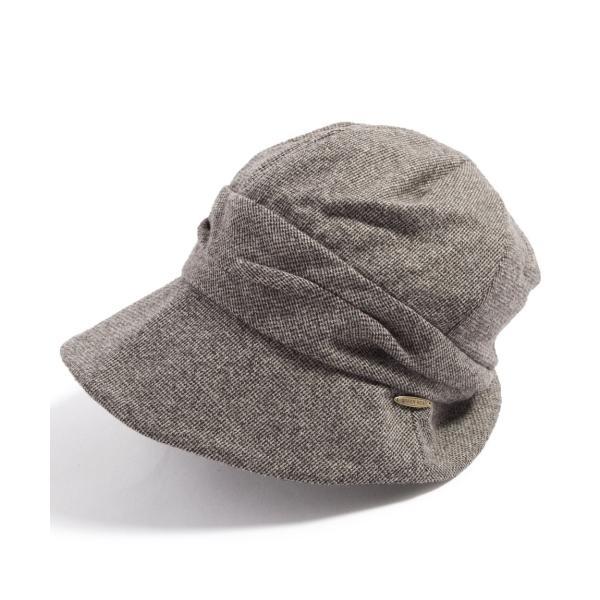 帽子 レディース 大きいサイズ キャスケット AWミラクルキャスダウンHAT  ハット 秋 冬 小顔効果 防寒対策に|queenhead|21