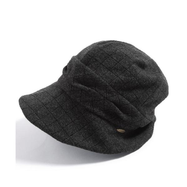 帽子 レディース 大きいサイズ キャスケット AWミラクルキャスダウンHAT  ハット 秋 冬 小顔効果 防寒対策に|queenhead|23