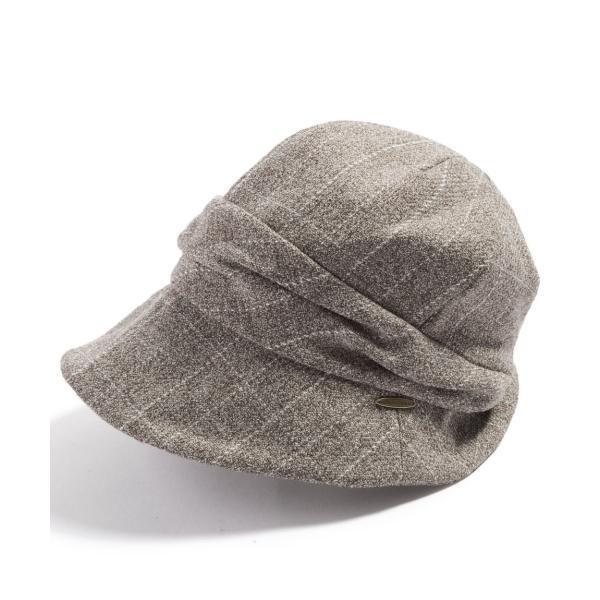 帽子 レディース 大きいサイズ キャスケット AWミラクルキャスダウンHAT  ハット 秋 冬 小顔効果 防寒対策に|queenhead|24