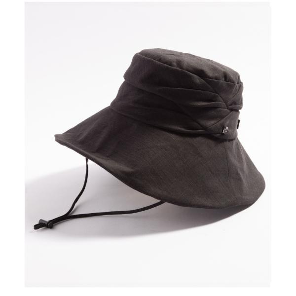 紫外線100%カット  帽子 レディース 大きいサイズ つば広 自転車 飛ばない あご紐着脱可能 56-63cm 紐付きエレガントUVハット SALE セール|queenhead|21