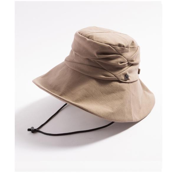 紫外線100%カット  帽子 レディース 大きいサイズ つば広 自転車 飛ばない あご紐着脱可能 56-63cm 紐付きエレガントUVハット SALE セール|queenhead|22