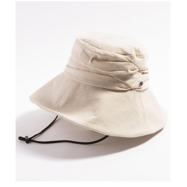 紫外線100%カット  帽子 レディース 大きいサイズ つば広 自転車 飛ばない あご紐着脱可能 56-63cm 紐付きエレガントUVハット SALE セール|queenhead|24