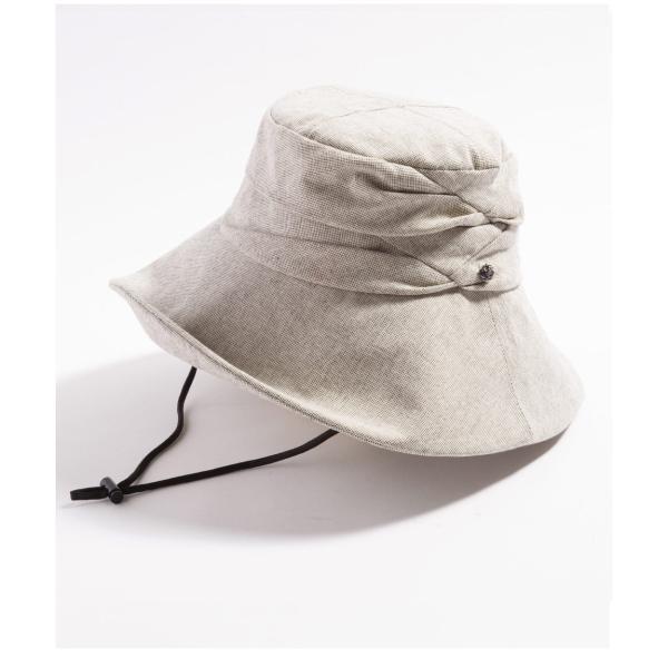 紫外線100%カット  帽子 レディース 大きいサイズ つば広 自転車 飛ばない あご紐着脱可能 56-63cm 紐付きエレガントUVハット SALE セール|queenhead|23