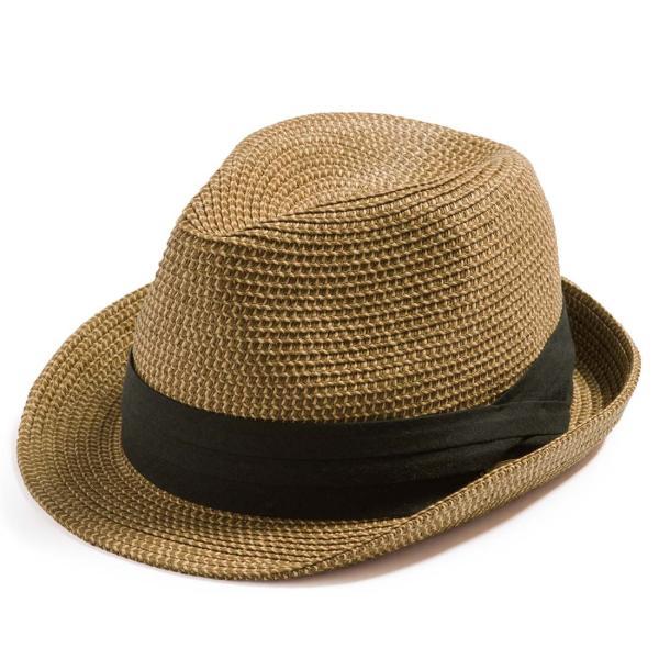3月末より順次発送 折りたためる ストローハット 麦わら 帽子 中折れ 帽子 レディース メンズ 大きいサイズ ミックスペーパーソフトHAT|queenhead|22