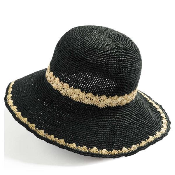 帽子 レディース 夏  ラフィア 麦わら 大きいサイズ UVハット ラフィアハット 飛ばない ツートーンラフィアハット つば広ハット 麦わら帽子 折りたたみ|queenhead|21