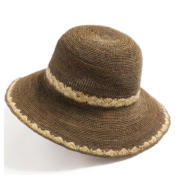 帽子 レディース 夏  ラフィア 麦わら 大きいサイズ UVハット ラフィアハット 飛ばない ツートーンラフィアハット つば広ハット 麦わら帽子 折りたたみ|queenhead|22