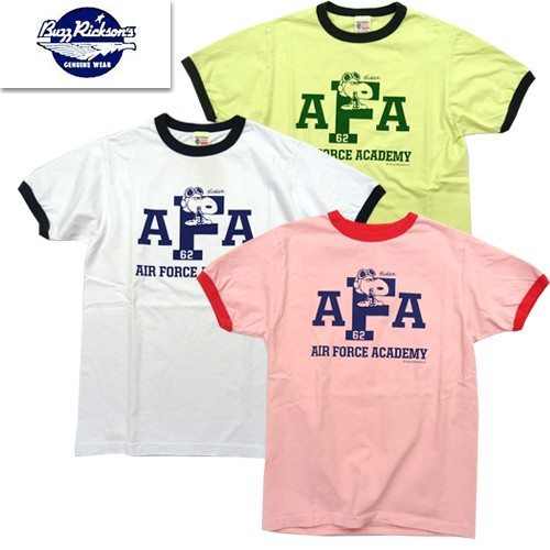 BR78211 リンガーTシャツ「AIR FORCE ACADEMY」