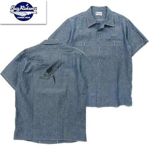 BR38187 「BLUE CHAMBRAY S/S WORK SHIRT STENCIL」