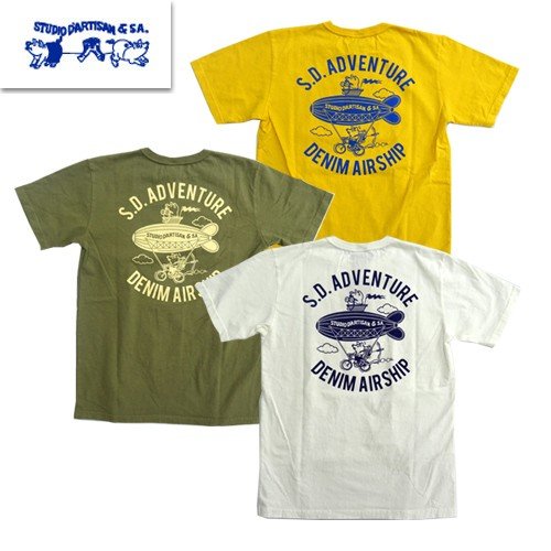 9960A USAコットン プリントTシャツ S.D.ADVENTURE
