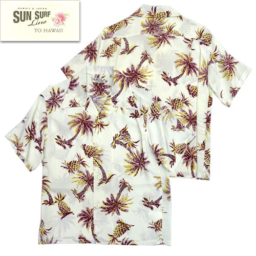 SS38032 「STUDDED WITH PALM TREE AND PINEAPPLE」 HWAIIAN SHIRTS