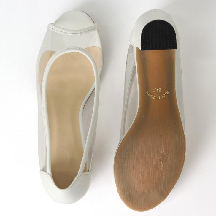 5e84447bd0a69e オープントゥ クリア パンプス レディース 靴 くつ クリアサンダル ...