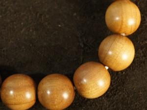 白檀(サンダルウッド)ブレスレット、念珠、数珠