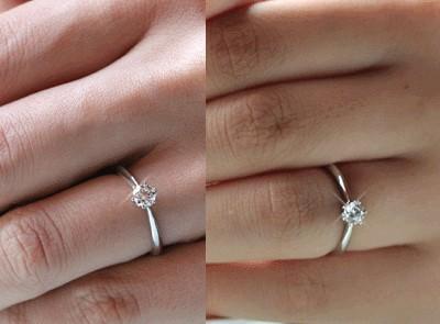 new product a8932 a6b50 リング ダイヤモンド 0.2ct SIクラス プラチナ900 婚約指輪 エンゲージリング 結婚指輪