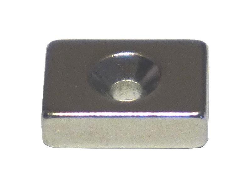 ネオジム磁石 角型皿穴付き