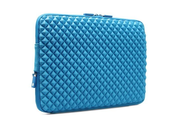 MacBookAir/Proダイヤ柄11/13/15インチ対応MacBookケースのブルー2