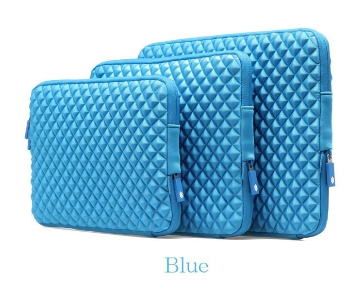 MacBookAir/Proダイヤ柄11/13/15インチ対応MacBookケースのブルー3サイズ