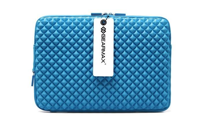 MacBookAir/Proダイヤ柄11/13/15インチ対応MacBookケースのブルー1