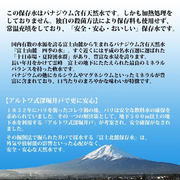 富士北麓5年保存水