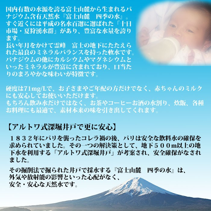 富士山麓四季の水