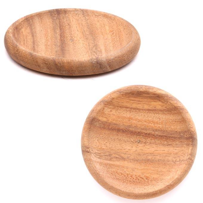 木製 コースター ラウンド アカシア