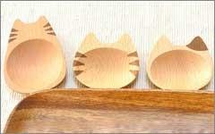 ネコ 豆皿 お皿 木製