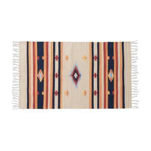 キリム コットンマット 70×120 ラグ ラグマット アジアン インド 玄関マット キッチンマット バスマット 洗える 長方形 rcmdin 21